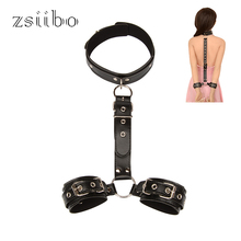 Buy Sexy Bondage Collar Handcuffs Wrist Tied Hand Toys BDSM Restraints Slave Fetish Ankle Cuffs Sex Swing Couples WGQQKB119