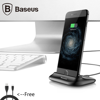 Baseus Desktop Docking Charger Sync Data Desktop Cradle Stand For iPhone 5 5S 6 6S 7 Plus Charging Dock Station With Sound Ports