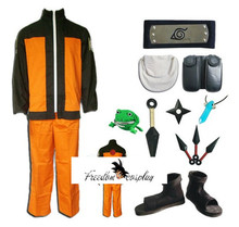 Uzumaki Naruto Cosplay Costume Naruto Whole Set(China)