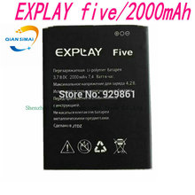 QiAN SiMAi New original High Quality  Explay five Battery for  Explay five mobile phone in stock+ Track Code+ Free shipping