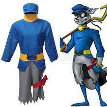 The Thief Sly Cooper Cosplay Costume Anime Custom Made Uniform Free Shipping