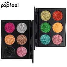 Hot Sale Diamond Golden Color Powder Glitter Eye Shadow Palette Shiny Eyeshadow Palette Makeup To Faced Cosmetics(China)