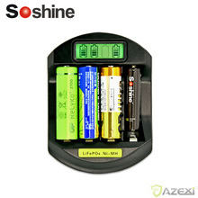 Soshine C5 LCD Display 4 channel Fast Quick battery charger for LifePO4 Ni-Mh 14500 10440 AA AAA(China)