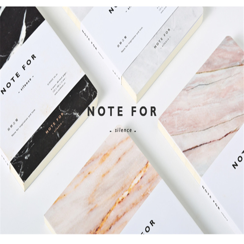 Note For Notebook Notepad Journal Art Skech Book Marble Cover Decor Decoration Blank Filler Paper Japanese School Supplies