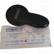 134.2khz ISO11784/785 FDX Handheld 125KHZ RFID Reader Pet Microchip Scanner Animal RFID Tag Reader Dog Reader(China)