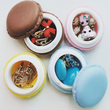 CFen A's Cute candy color macaron Mini Storage Box Jewelry Box Pill Case organizer zakka,home deco birthday gift box,100pcs/lot(China)