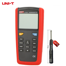 UNI-T UT325 Electronic Digital Thermometer Temperature Meter Tester T1-T2 Dual Input with High/Lower Alarm & Auto Calibration(China)