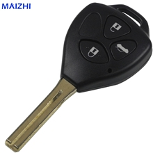 maizhi maizhi10PCS 3 Buttons Remote Fob Car Key Shell Replacement for Toyota Crown Straight Handle Key Shell Styling(China)
