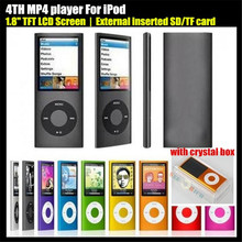 "4TH 1.8"" LCD Screen Sport MP3 player External inserted TF Card,(no SD/TF Card),Video FM Radio Music HD MP3 Player,+Crystal Box(China)"