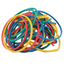 Colorful 100 Pieces/Pack Nature Rubber Bands 40 mm School Office Home Industrial Rubber Band Fashion Stationery Package Holders(China)