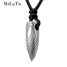 MiLaTu Newest Star Bullet Head Pendant Necklace Punk Stainless Steel Men Women Soldiers Navy Jewelry Couple Necklace NE501G