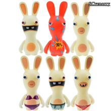 "Rayman Raving Rabbids PVC Action Figures Collectible Model Toys Kids Baby Toys Doll Gifts 6"" 14cm 6pcs/set(China)"