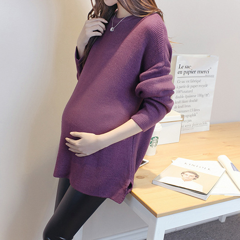 2017 new maternity sweater false two piece loose clothes for pregnant women clothing for pregnancy cotton crewneck clothing<br><br>Aliexpress