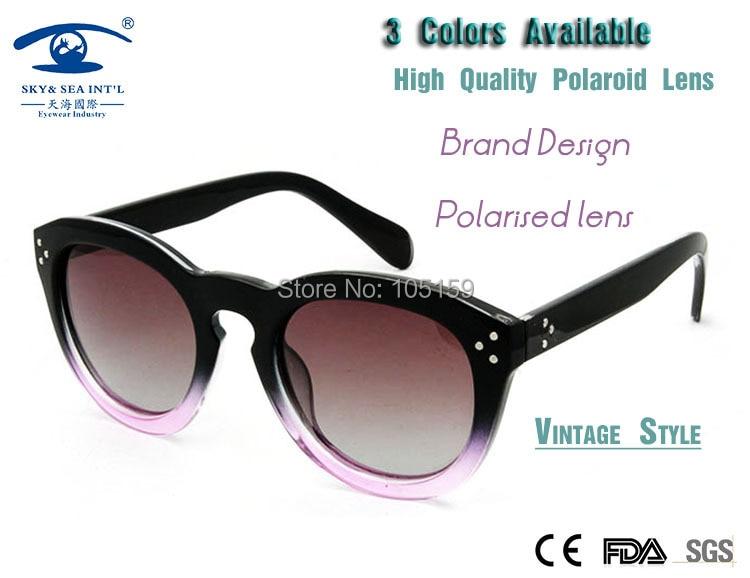 2015 New Spring oculos Female Brand Designer Polaroid Lens Vintage Sunglasses Round oculos Polarized Sun Glasses<br><br>Aliexpress