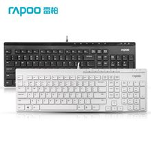 Rapoo N7000 Hot Sale Ultra Thin Slim Metal USB Wired Keyboard For Laptop Desktop Computer Free Shipping