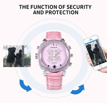 Love Her Buy TF26 Secuity Smart Watch for Her with Camera Lady Security Pink Watch P2P WiFi IP Camera Pocket DVR WIFI Watch(China)