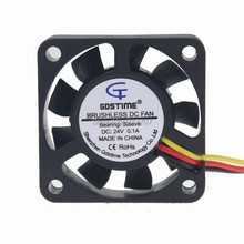 5PCS Gdstime DC 24V 3Pin 4010 4cm 40x40x10mm 40mm 9 Blades Mini CPU Cooling Fan