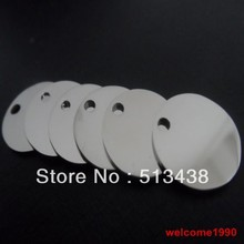 10pcs 15mm  High polishing Round MEDALS Charms stainless steel Jewelry pendant bulk free shipping