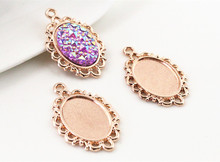 Buy 15pcs 13x18mm Inner Size Rose Gold Simple Style Cameo Cabochon Base Setting Charms Pendant necklace findings (D2-52) for $1.60 in AliExpress store