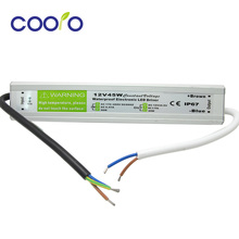 DC 12V 45W Waterproof ip67 Electronic LED Driver outdoor use power supply led strip transformers adapter,free shipping