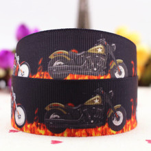 New motorcycle grosgrain printed ribbon 10 yards cartoon garment accessories ribbon 25 mm DIY material Luggage straps gift bags(China)