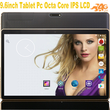 Best Sell phablet android tablet 3G calling 9.6inch children tablet pcs Octa Core 2 Sim Card 4G Lte good kids tablet +Gift