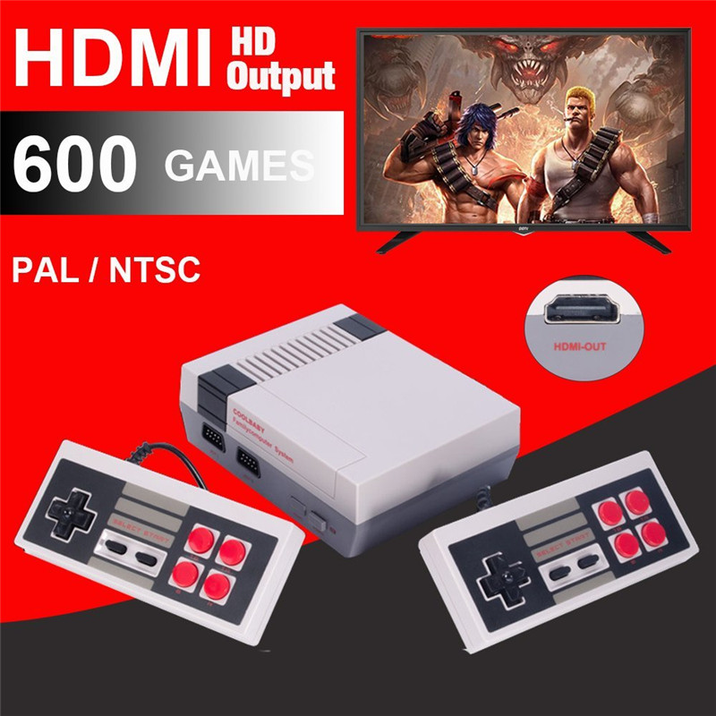 COOLBABY HDMI Out Retro Classic handheld game player Family TV video game console Childhood Built-in 600 Games For nes mini P/N <br>