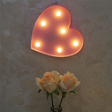 Heart Shape LED Glow Party Supplies Home Bedroom Baby Kids Room Decor Night Light Different Colors Provided(China)