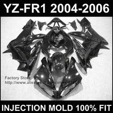 New! Injection mold body repair parts for YAMAHA YZF R1 fairings YZF1000 1 2004 2005 2006 YZFR 04 05 06 all black custom fairing(China)