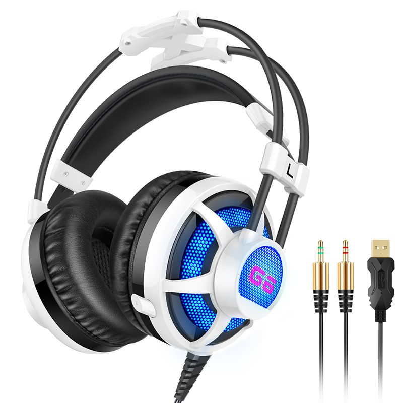 Picun G6 Professional Gaming headphones Stereo Sound Luminous Vibration Voice Game Headset Best Bass For Computer LED Light <br><br>Aliexpress