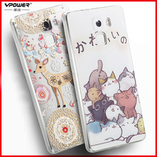 Vpower for huawei honor 7 case tpu soft transparent CASE 3d relief cartoon Cover Phone Cover For huawei honor 7 Shell free ship