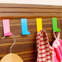 New Design 2pcs Stainless Over Door Hooks Kitchen Cabinet Clothes Hanger Draw Towel Clothes Pothook Can Carry Organizer Holder