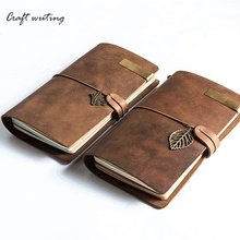 100% Vintage Genuine Leather Notebook Diary Travel Journal Planner Sketchbook Agenda DIY Refill Paper School Birthday Giftlaptop(China)