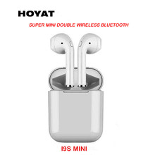 Mini I9S airplus Wireless Bluetooth Earphone Twins Earbuds Headset I9/I9S with Mic for IOS Android phone Tablet PC Smart Watch(China)