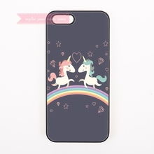 tough cover case for iphone 4 4s 5 5s 5c se 6 6S 7 Plus iPod Touch cases cartoon couple nicorn kawaii horse Rainbow trendy(China)