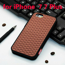 "VANS Waffle Case For Apple iPhone 7 7 plus Cover Soft Rubber Silicone Waffle Shoe Sole Mobile Phone 4.7"" 5.5"" inch Square Shell"