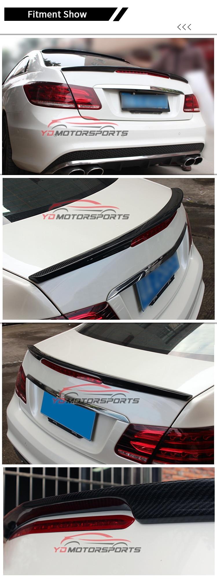 10-13 A Style Rear Trunk Spoiler ABS Painted Matte Black Fits Benz C207 E Class