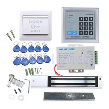 RFID Door Access Control system Kit With 280kg  Electric Magnetic lock  Power Supply   Entry keypad 10 Key Fobs EXIT Button