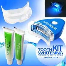 Health Oral Care Toothpaste Kit Teeth Whitening with LED Light for Personal Dental Treatment Tooth Gel Whitener