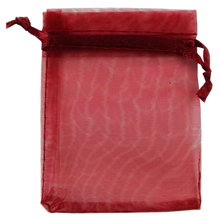 Premium Organza Gift Bags Jewellery Pouches XMAS Wedding Party Candy Bags Colour:Red wine Size:15CM X 20CM 100pcs(China)
