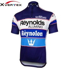 X-vertex REYNOLDS ALUMINIO/PINARELLO RETRO JERSEY short sleeve cycling clothes  prendas ciclismo road bike wear summer for men