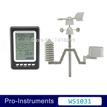 WS1031 Professional 433mhz Temperature Humidity Rain Pressure Wind Speed Wind Direction Solar Powered Wireless Weather Station(China)