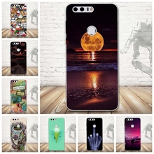 for Huawei Cell Phone Case Honor 8 Transparent Skull Owl Girls Ultra Soft TPU Back Capa Shell Silicone Cases Cover for Honor 8