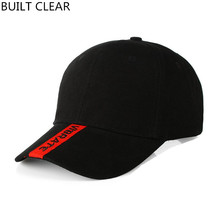 (BUILT CLEAR) Baseball Cap New Cap Barrier Embroidery Sports Cap snapback Golf Hat Men Women Hat Wholesale dad hats(China)