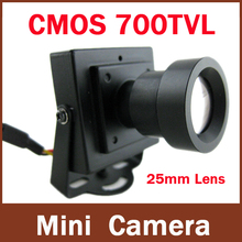 High Resolution CMOS 700TVL 25mm Lens Long distance Security Box Color Mini Indoor CCTV Camera(China)