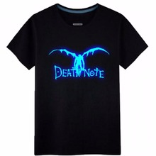 Hot Death Note L Ryuuku Rem Luminous cosplay costume cotton freedom wings tshirt tee