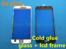Original New LCD Front Touch Screen Glass Outer Lens with Frame Bezel for iphone 6s plus 5.5 inch Free Shipping(China)