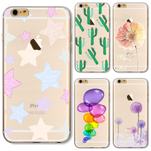 6/6S Soft TPU Case Cover For Apple iPhone 6 6S Cases Phone Shell Special Eyes Happy Bus Balloon Painting Tidal Current Top Style