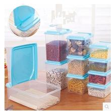One Set of Kitchen Food Canister Cereals Plastic Food Storage Box Transparent Grain Storage Jar Delicate Snack Store Can