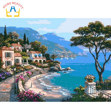 HOME BEAUTY 40x50 diy digital oil painting by numbers home decoration paint unique gift craft picture with frame landscape G302
